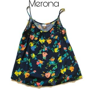 4/$25 Merona Floral Tank Size Small